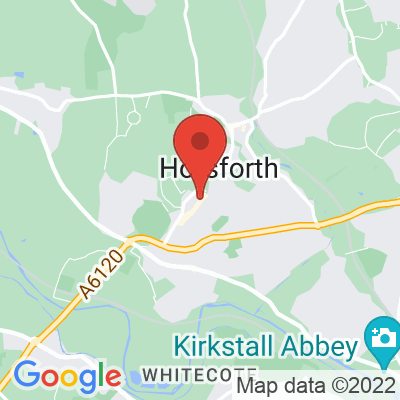 Map showing The Greenhouse Horsforth