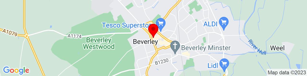 Google Map of 53.84269722222223, -0.4322888888888889