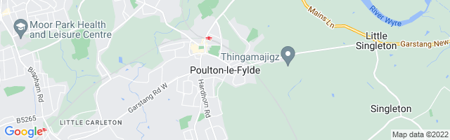 Map Of Poulton-le-Fylde