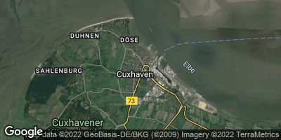 Google Map of Cuxhaven