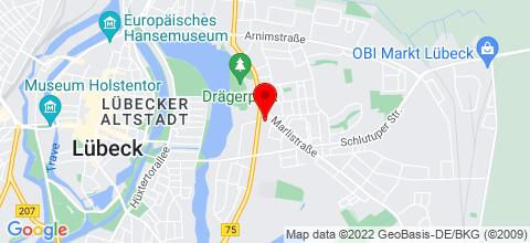 Google Map für Lübeck-Apartments
