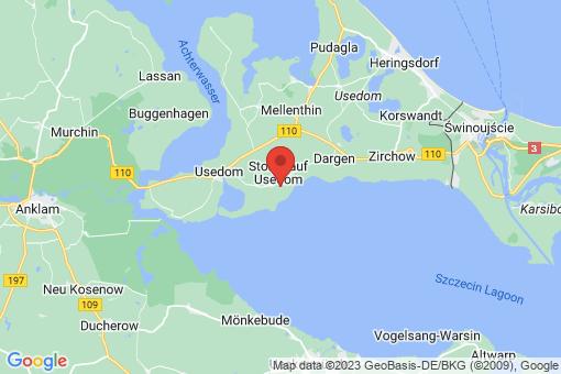 Karte Stolpe auf Usedom