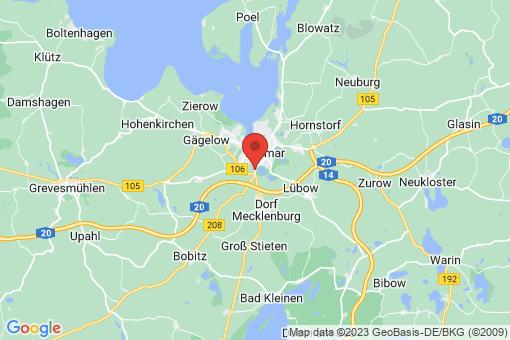 Karte Wismar