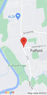 Map showing the location of the York Fulford Road monitoring site