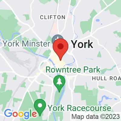 Map showing The Dark Horse Espresso Bar (York)