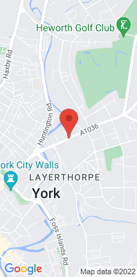 Map showing the location of the York Heworth Green monitoring site