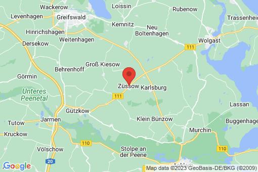 Karte Züssow