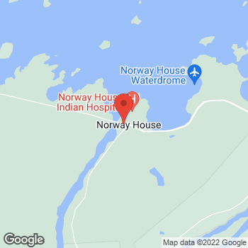 Map of Tim Hortons at Box 160 Northern Store 570, Norway House, MB R0B 1B0