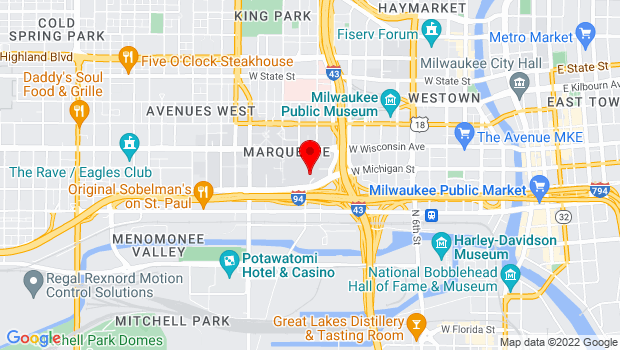 Google Map of 530 N. 13th Street, Milwaukee, WI 53201