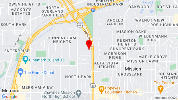 Google Map of 5300 Metcalf Ave, Overland Park, KS 66204