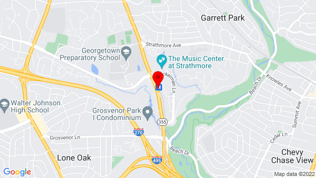 Google Map of 5301 Tukerman Lane, North Bethesda, MD 20852