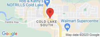 Google Map of 5305+-+50TH+AVENUE%2CCold+Lake%2CAlberta+T9M+1P1