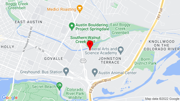 Google Map of 5305 Bolm #12, Austin, TX 78721