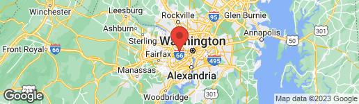 Map of 5306 27TH STREET N ARLINGTON, VA 22207