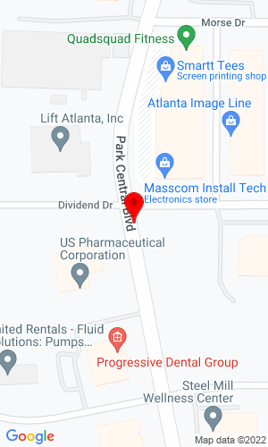 Google Map of Gensco America, Inc. 5307 Dividend Drive, Decatur, GA, 30035