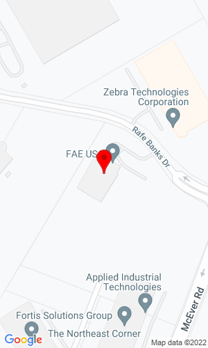 Google Map of FAE USA Inc 5321 Rafe Banks Drive, Flowery Branch, GA, 30542
