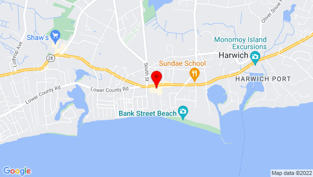 Google Map of 533 Rt. 28, Harwich Port, MA 02646