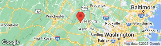 Map of 533 CANTERBURY CIRCLE PURCELLVILLE, VA 20132