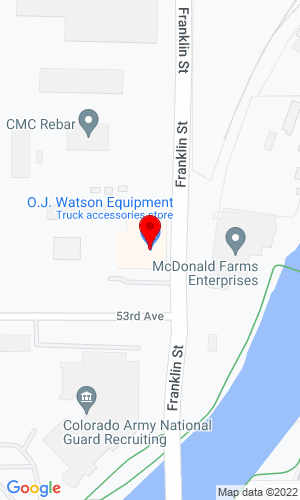 Google Map of OJ Watson Equipment 5335 Franklin Street, Denver, CO, 80216