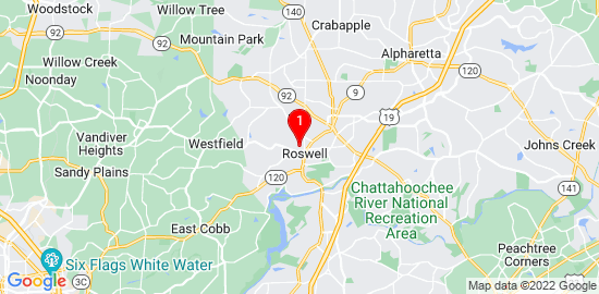 Google Map of 535 Windy Pines Trail Roswell, ga 30075