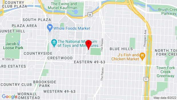 Google Map of 5351 Forest Ave., Kansas City, MO 64110