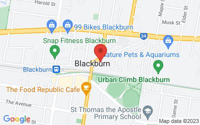 Map of 54 Railway Rd, Blackburn VIC, Australia