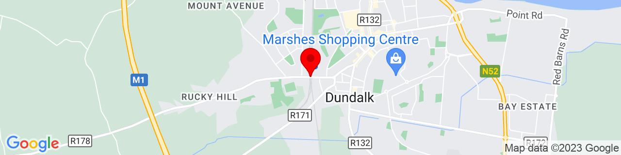 Google Map of 54.000030555555554, -6.412891666666667