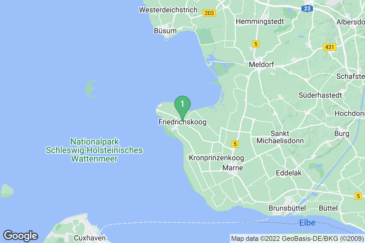 Google Map of Friedrichskoog