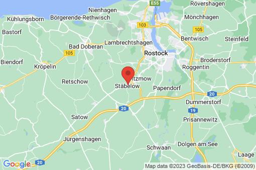Karte Stäbelow