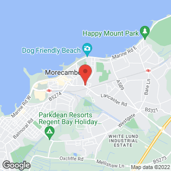Map of Bargain Booze Bridge Road at Bridge Road, Morecambe, Lancashire LA4 5NA