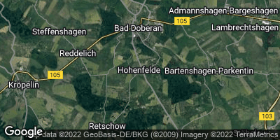 Google Map of Hohenfelde