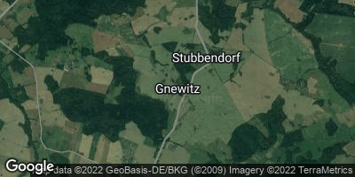 Google Map of Gnewitz bei Rostock