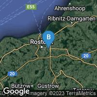 Lagekarte von Rostock-Brinckmansdorf