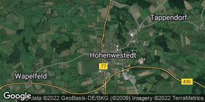 Google Map of Hohenwestedt