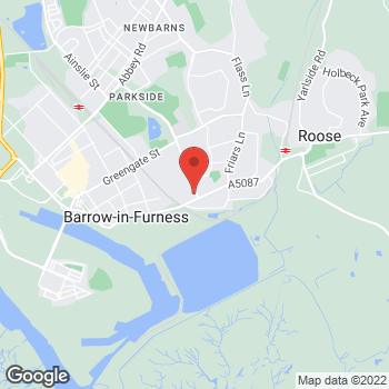 Map of Bargain Booze Plus Risedale Road at 5 Risedale Road, Barrow-in-Furness, Cumbria LA13 9QX