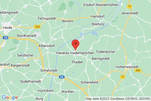 Karte Hanerau-Hademarschen