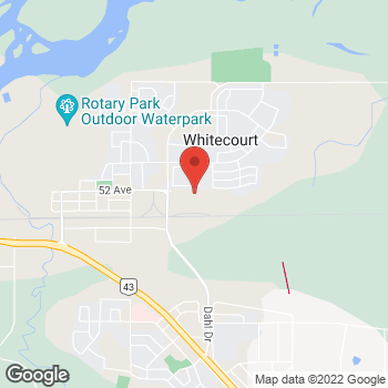 Map of Staples Print & Marketing Services at 4223-52 Avenue, Whitecourt, AB T7S 1X6