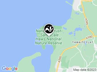 A static map of Sandscale Hawes Beach