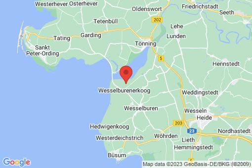 Karte Wesselburenerkoog