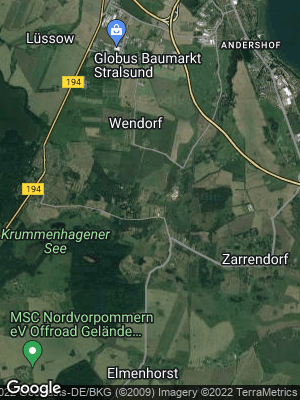 Google Map of Wendorf bei Stralsund