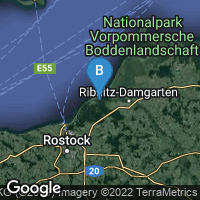Lagekarte von Graal-Müritz (Ostseeheilbad)