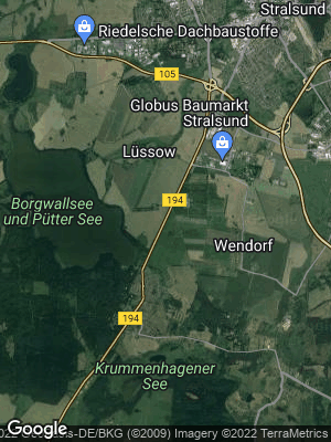 Google Map of Am Lüssower Berg