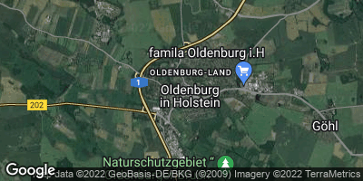 Google Map of Oldenburg in Holstein
