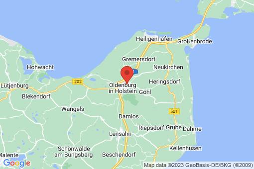 Karte Oldenburg in Holstein