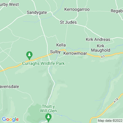 Ballamanaugh, Sulby, azalea garden Location