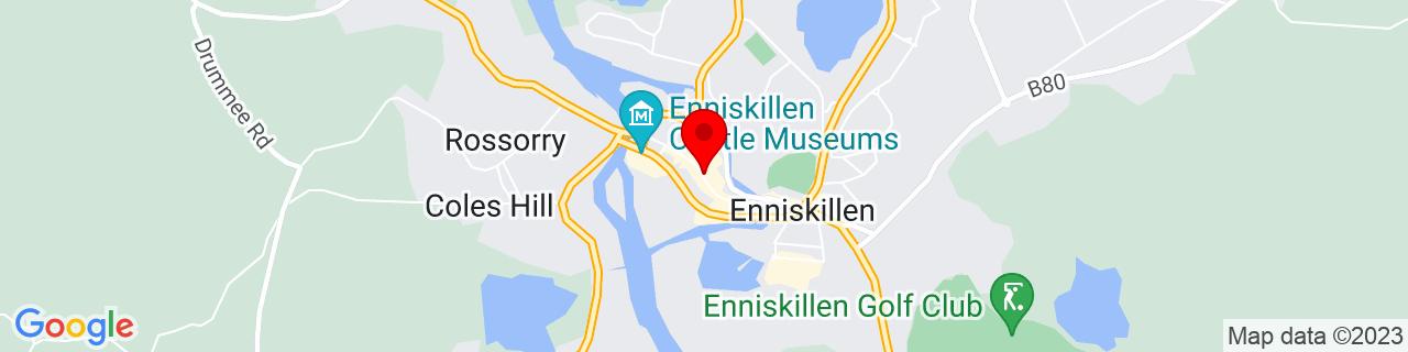 Google Map of 54.34539166666667, -7.639275