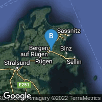 Lagekarte von Bergen auf Rügen
