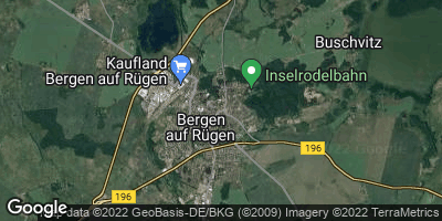 Google Map of Bergen auf Rügen