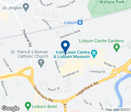 Map of Unit B in Lisburn