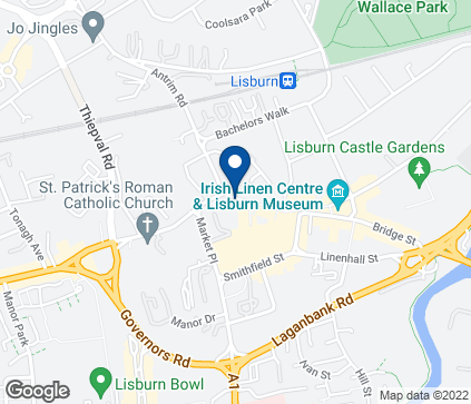 Map of 40-46 Bow Street in Lisburn